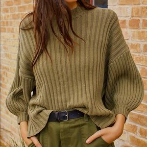 Urban Outfitters Lou Mockneck Pullover Sweater